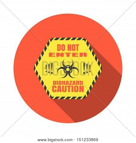 Biohazard - vector isolated icon with shadow.