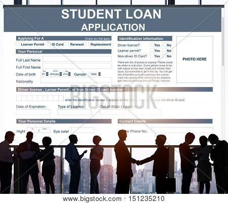 Student Loan Application Form Concept