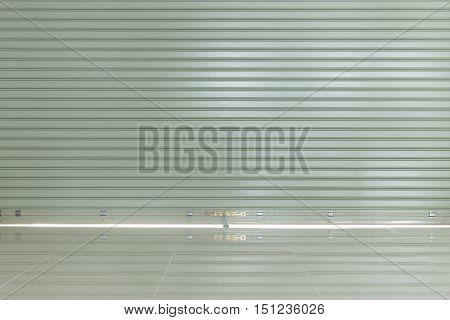 Aluminium Steel Roller Shutter Door And Tile Floor