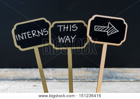 Business Message Interns This Way