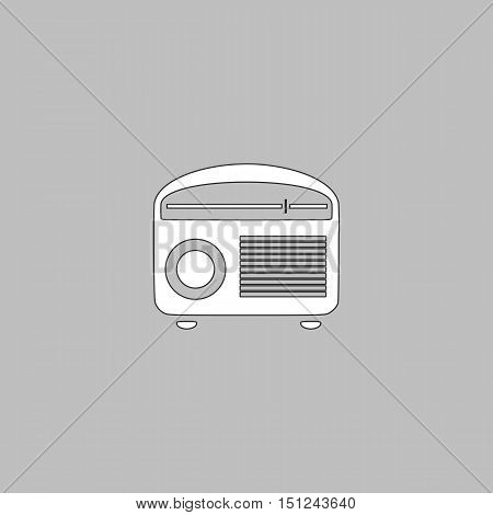 Tuner Icon Vector. Flat simple color pictogram