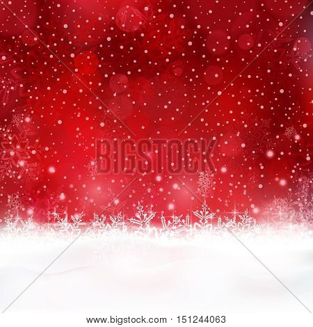 Shiny light effects with blurry lights and glittering snowflakes in shades of red and white. Great for the festive season of Christmas to come