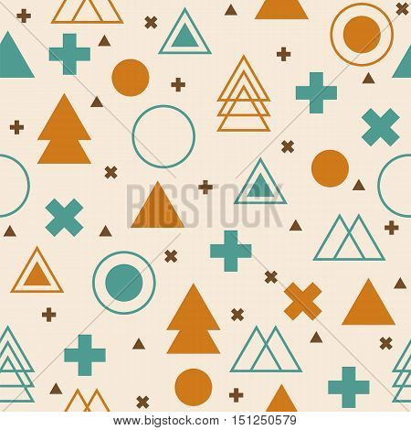 Abstract tribal background. Colorful geometric seamless pattern