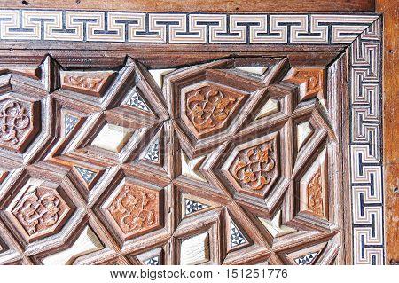 Door Detail Of Suleymaniye Mosque, Istanbul, Turkey