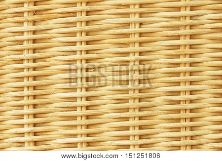 Brown Rattan Interwoven Texture Background close up