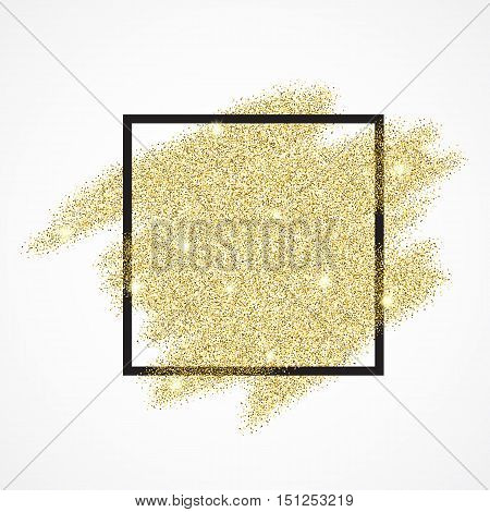 Gold blur glitter background in frame. Abstract gold background for text, type, quote, banner, selling, text, flyer, poster, web, header shopping for sale sign discount