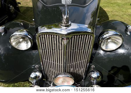 Karlsborg, Sweden - August 14, 2016: Classic British Car On The British Motor Met In Karlsborg Fortr