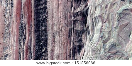 abstract composition gobbling land glaciation advancing climate change, abstract pictures of landscapes in the deserts of Africa from the air, Naturalism Abstract collection of Munimara,