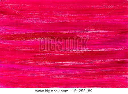 Ruby red and pink watercolor background. Hand painted watercolour valentines day backdrop. Abstract banner. Ink spreading. Streaks, waves, stains, texture. Fill with rough uneven edges.