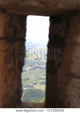 View Of The Valley From The Slit In The Walls