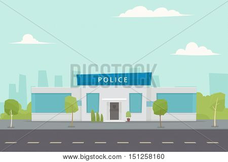 police department building in the city