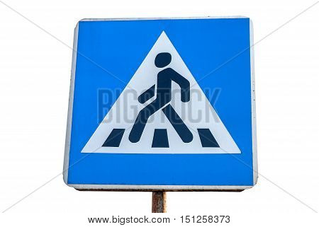 pedestrian crossing isolated on white background. sign