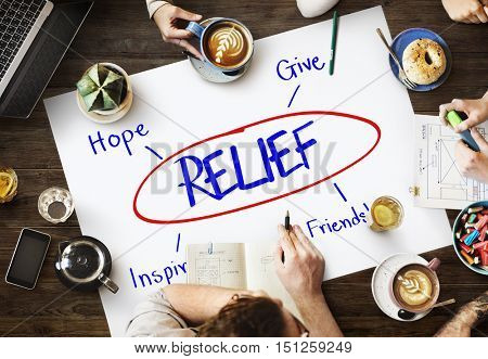 Relief Support Care Assistance Help Concept