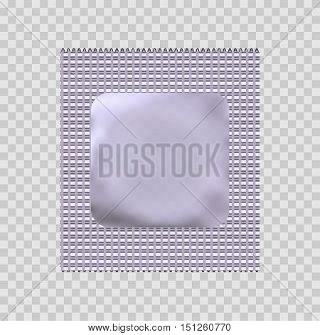 Condom package or condom wrapper isolated on transparent background. 3d illustration. Contraceptive method
