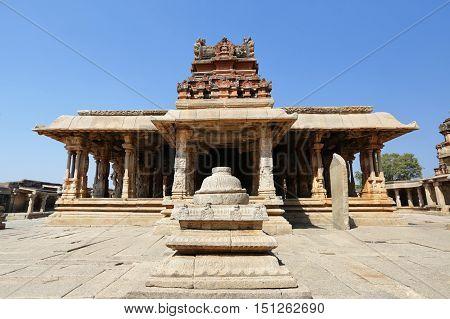 Temple complex in Hampi India - UNESCO world heritage sitem INDIA