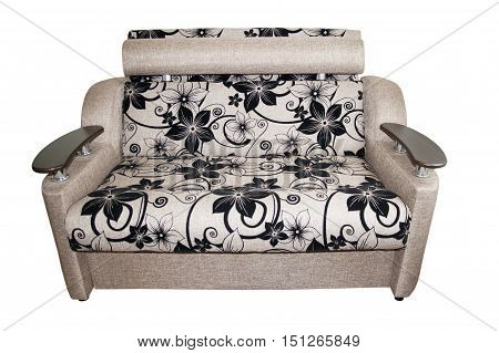 soft sleeper sofa isolated on white background