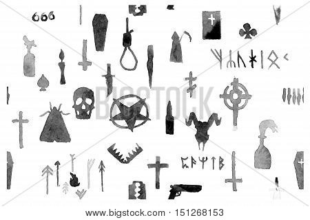 The pattern on the theme of death