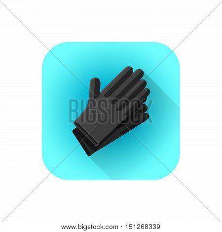 Vector Black Latex Tattoo Gloves.