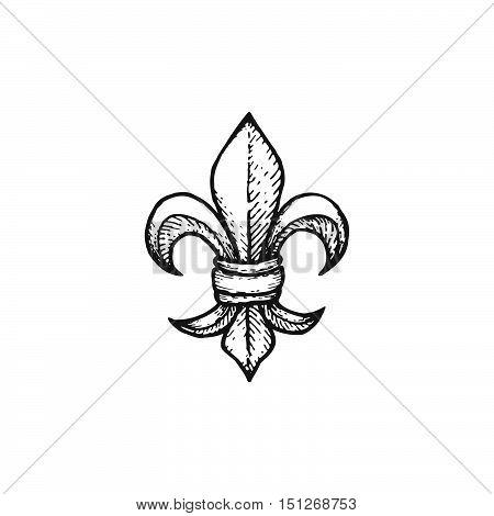 Vector Engraving Fleur De Lis.