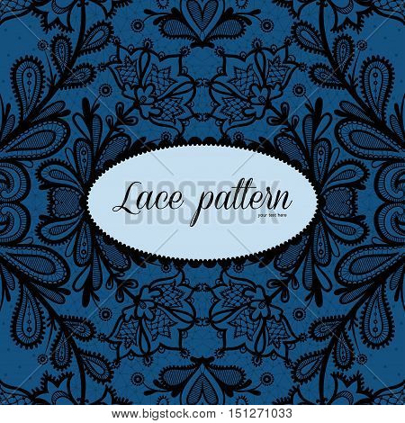 Lace background with a place for text. Lace vector design.