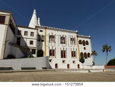 White Castle. Sintra. National Palace of Sintra. Portugal