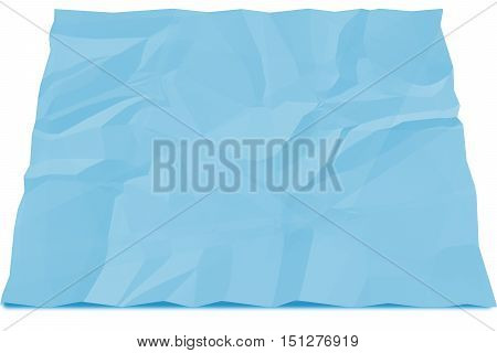 emply square blue paper crumpled for write