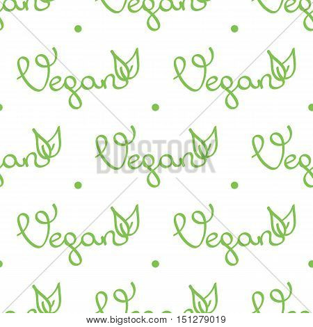 Vegan lettering seamless pattern background for web and print.