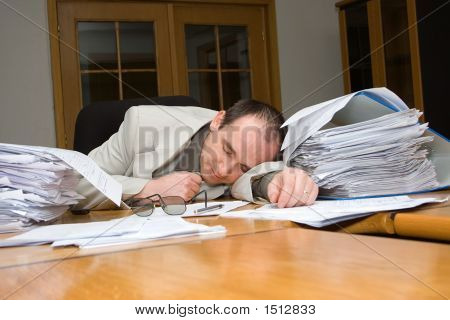 Businessman Felt Asleep