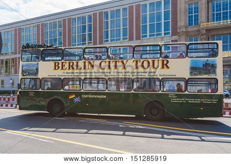 Berlin, Germany - April 2, 2008: Tour Double-decker Bus On The Streets