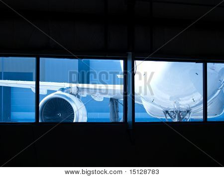 Aircraft Wainting For Maintenance Outside