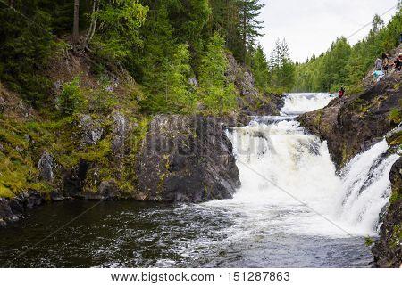 Karelia Russia beauty of the North landscape nature. Miniature tilt shift lens effect.