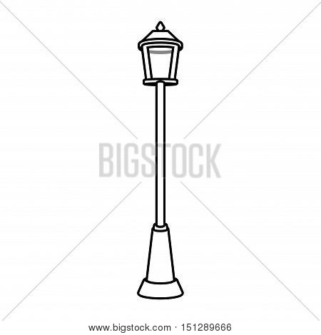 singular Park lighting with lamp vector illustration