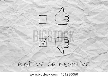 Thumbs Up Or Thumbs Down, Negative Case Ticked