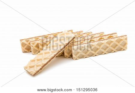 Chocolate wafer dessert isolated on white background