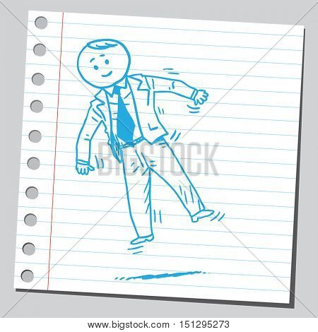 Businessman floating in the air