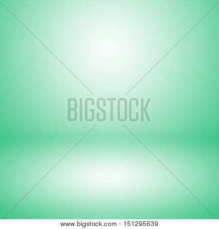 Abstract green empty room studio gradient used for background and display your product