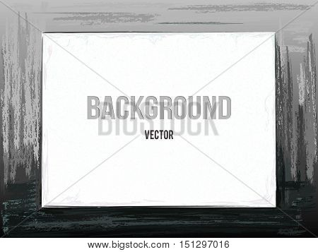 Vector monochrome background. Abstract gouache texture. Artistic picture.