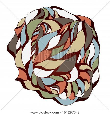 Abstract colorful isolated shape. Illustration 10 version