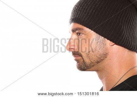 Nice Portrait Image of a Italian Tough Guy On white
