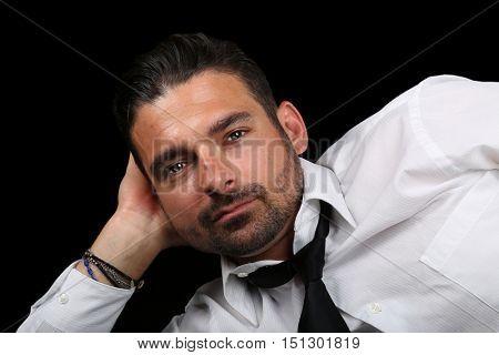 Very Nice Image of a Handsome Italian Man On Black