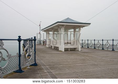 A victorian seaside pier at Swanage in DorsetEngland