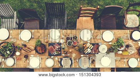Table Dishware Decor Dinner Concept