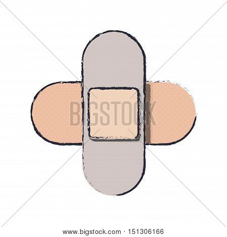 blur couple of cures in cross form vector illustration