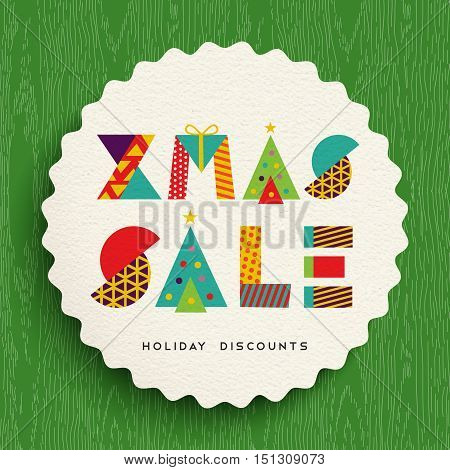 Christmas Sale Tag Design For Holiday Discounts