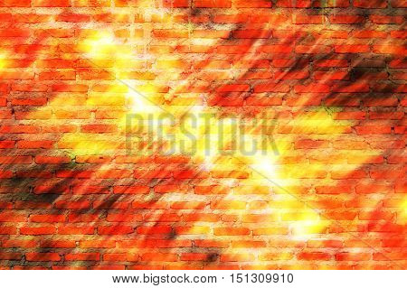 Red bricks are stacked together in one beautiful package Abstract concept and art