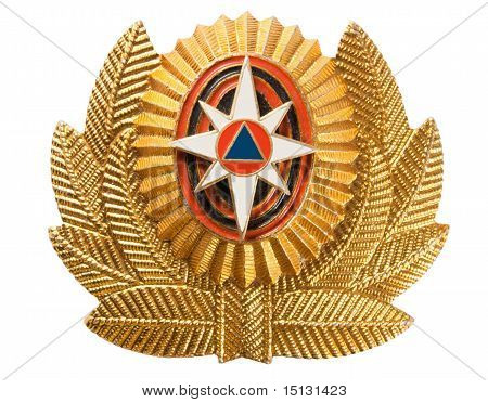 Cockade  Emercom Of Russia (emergency Control Ministry Of Russia).