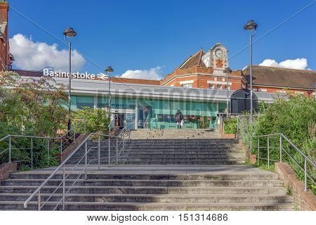 Basingstoke/UK. 2nd October 2016. Basingstoke station is a Victorian era station on the South Western Mainline and an important intersection between north and south England.