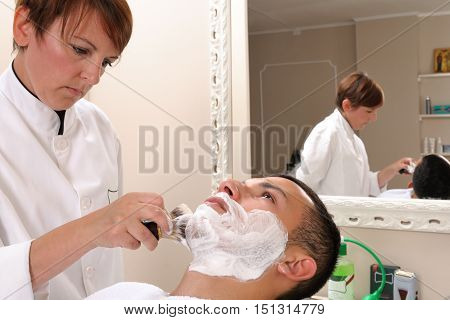 Shaving Retro Style Of The Beard