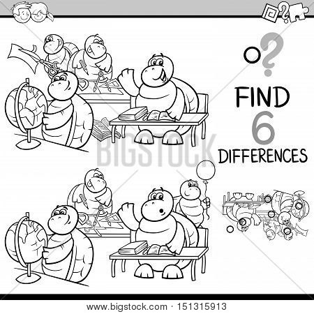 Differences Game Coloring Page