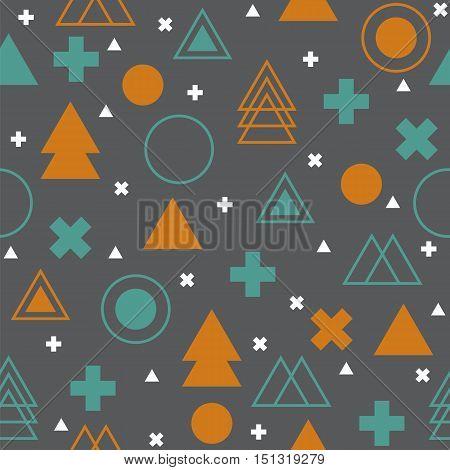 Geometric scandinavian seamless pattern. Abstract tribal background. Aztec